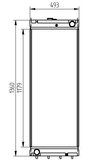 radiator komatsu pc400-7e0 / pc400-8 / pc400lc-7eo / pc400lc-8 / pc4